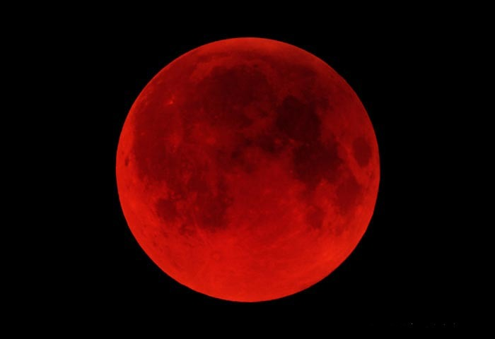 Super Red Moon di Langit Aceh